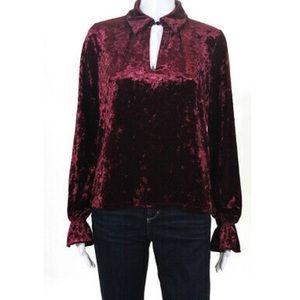Romeo & Juliet NWT burgundy velvet pullover top S